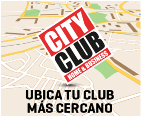 Mapa con unicaciones de City Club