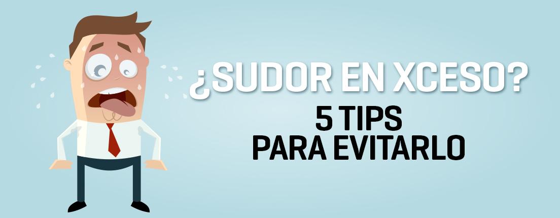 Tips para evitar el sudor excesivo