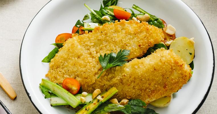 Ensalada de pescado con quinoa