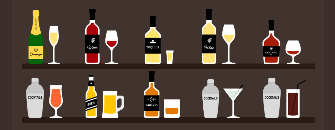 Guía de vasos y copas