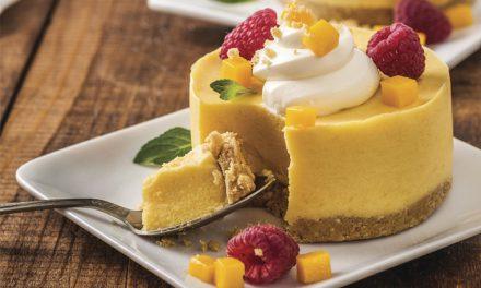Mousse de mango y queso