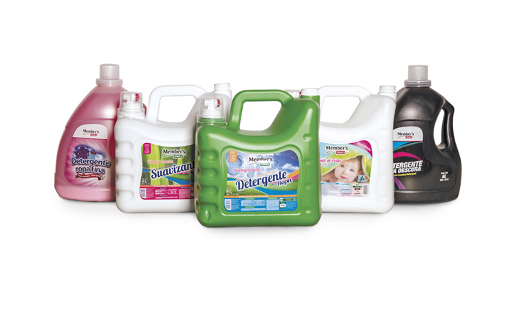 Detergente ropa fina, detergente ropa obscura, suavizante de ropa para bebé, detergente líquido biodegradable y suavizante biodegradable. Member's Choice