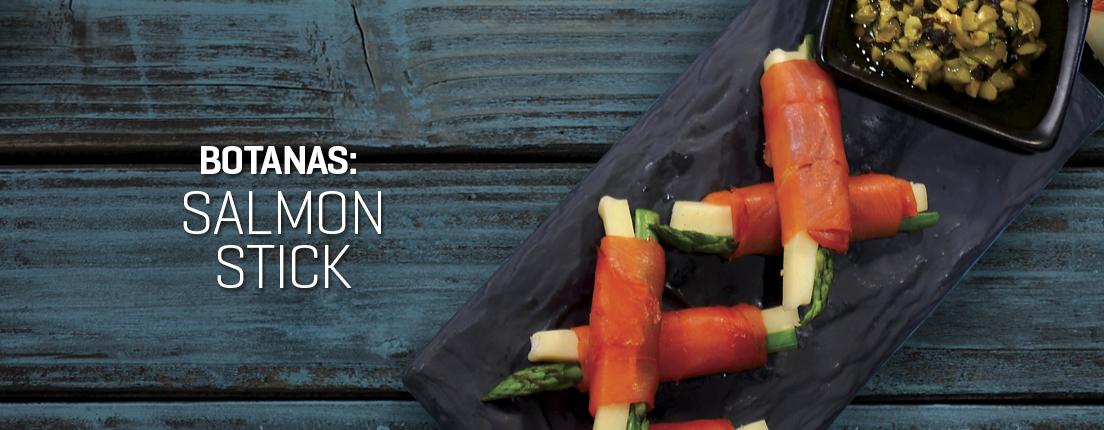 Botanas: salmon stick