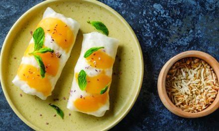 Sticky rice con mango y leche de coco