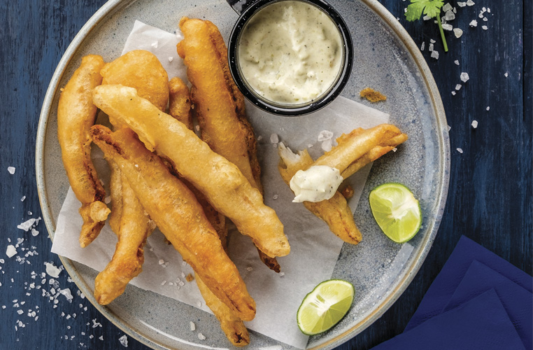 Tiritas fritas de pescado