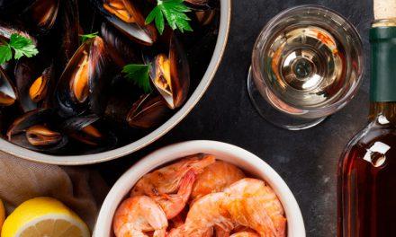 Infografía: vino y mariscos