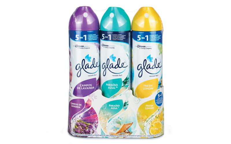 Aromatizante ambiental Glade 400 ml, paquete con 3 piezas