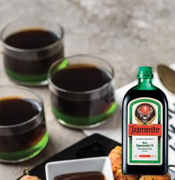 Shots de gelatina de Jägermeister