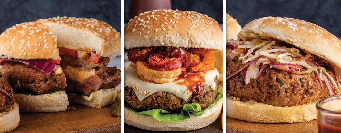 Una hamburguesa, tres versiones