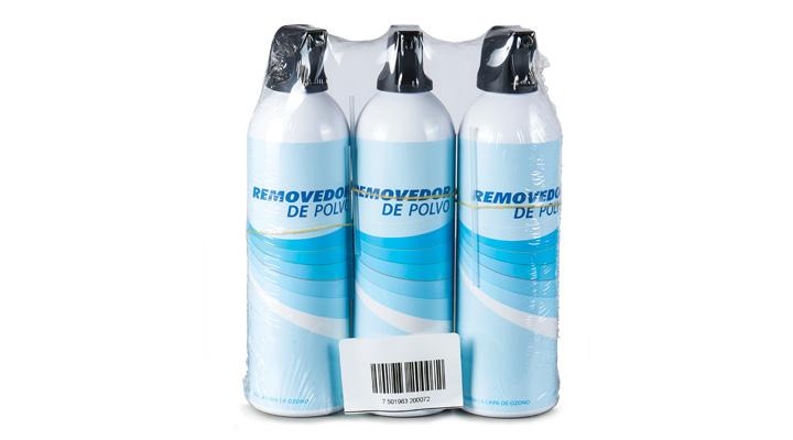 Aire comprimido Envatec, paquete de 3 botellas