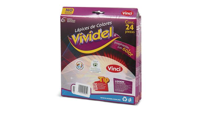 COLORES 24 pzas. VIVIDEL - 7501014690629