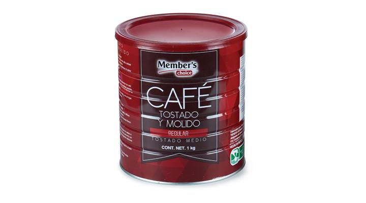 CAFÉ TOSTADO Y MOLIDO  Regular, 1kg  MEMBER'S CHOICE  7501008841266