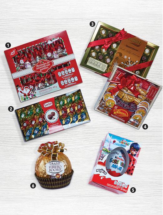 Opciones dulces para regalos navideños