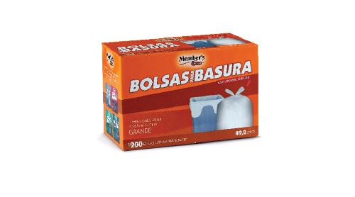 BOLSAS PARA BASURA Varias capacidades MEMBER'S CHOICE