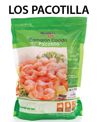 CAMARONES COCIDOS  Pacotilla, 908 g  MEMBER'S CHOICE - 7500093725451