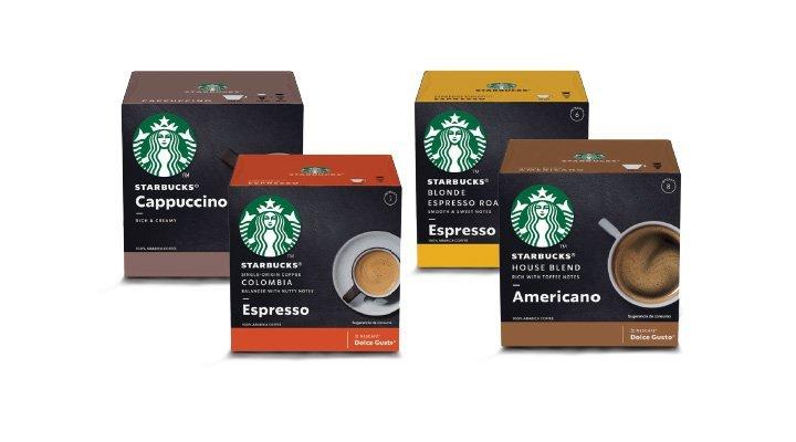 Cápsulas variedad de sabores Starbucks