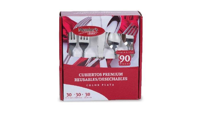 CUBIERTOS PREMIUM Reusables/desechables, 90 pzas. MEMBER'S CHOICE