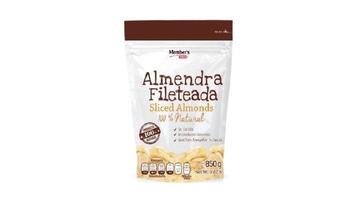 ALMENDRA FILETEADA 850 g MEMBER'S CHOICE