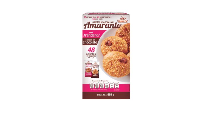 GALLETAS INTEGRALES DE AMARANTO 608 g TAIFELD'S