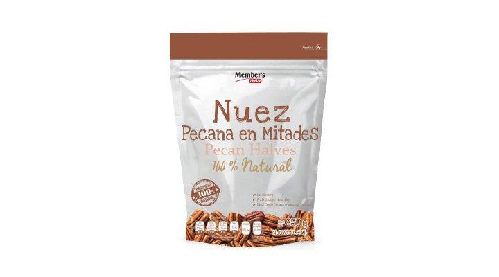 NUEZ PECANA EN MITADES 850 g MEMBER'S CHOICE