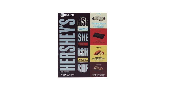 BARRAS DE CHOCOLATE 16 pzas. HERSHEY'S