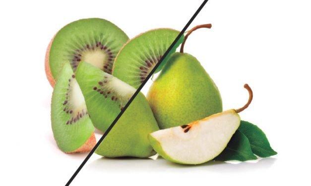Come más kiwi y pera