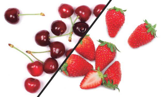Come más cerezas y fresas