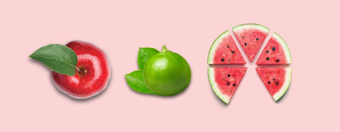 Manzana, limón y sandía, ¡súper deli para esta temporada!