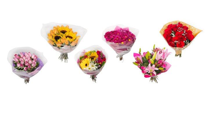 Variedad de Bouquets de Flores