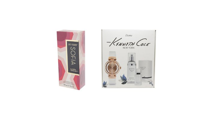 SO VERY SOFIA 50 ml BY SOFIA VERGARA, WHITE Reloj carat + set de fragancias KENNETH COLE