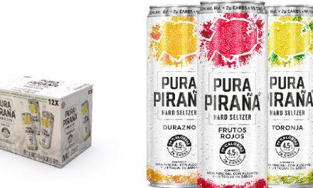 PURA PIRAÑA Hard Seltzer, refrescante opción baja en calorías.