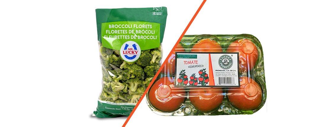 Tomate Hidropónico y brócoli, bienestar a tu alcance.