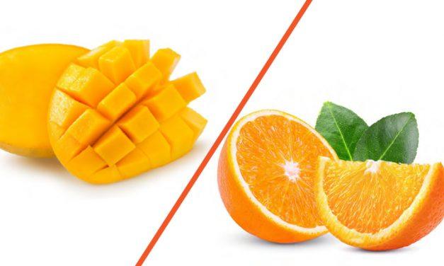 Mango y naranja, dos delicias hechas fruta
