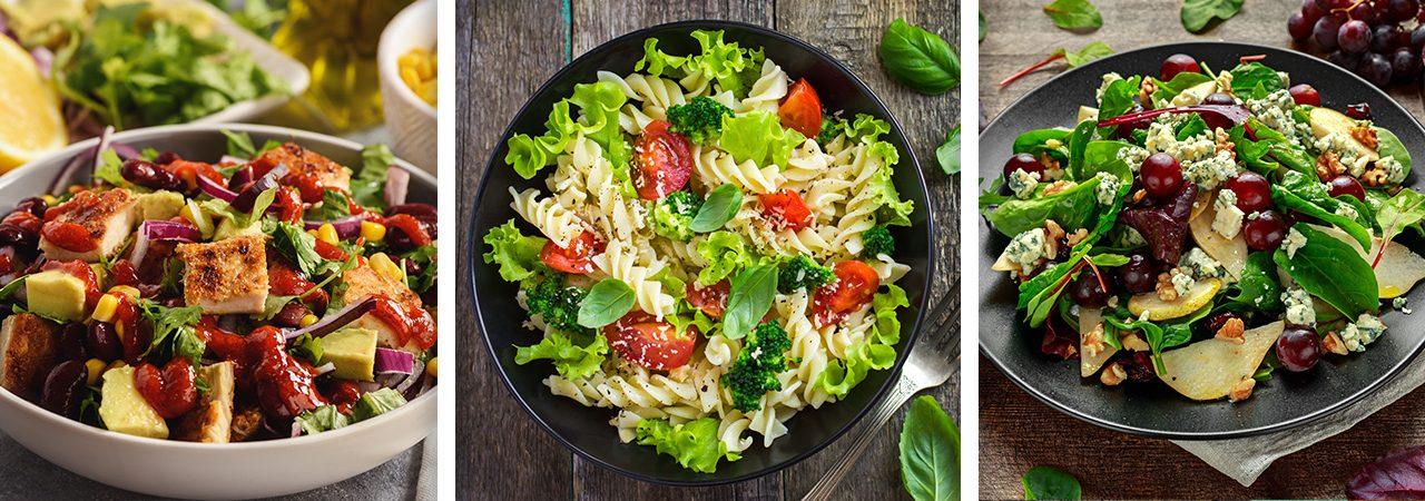 Ensaladas frescas, deliciosas y saludables